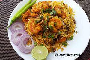 hyderabadi prawns biryani recipe