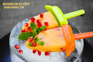 muskmelon ice pops