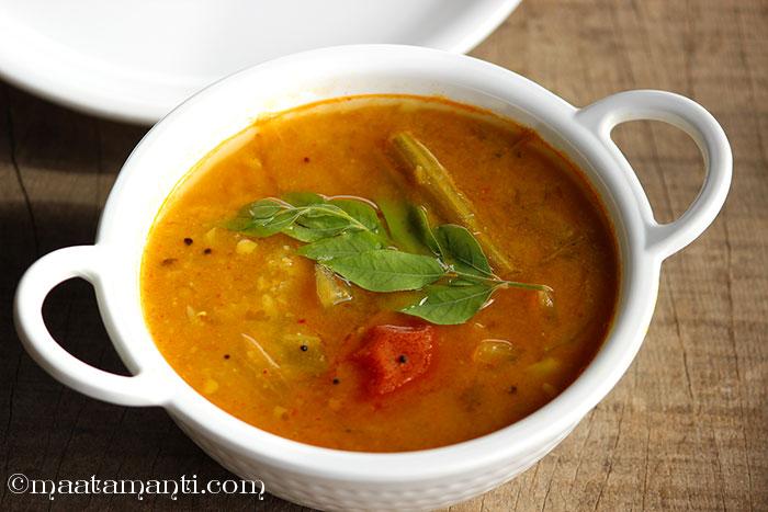 vegetable sambar telugu recipe