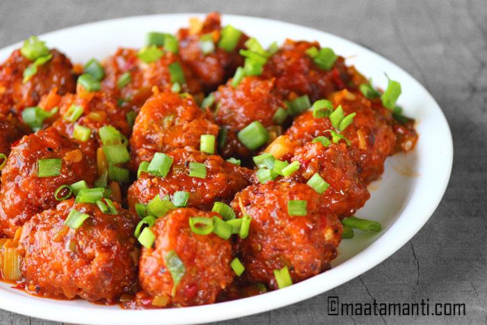 veg manchurian telugu recipe